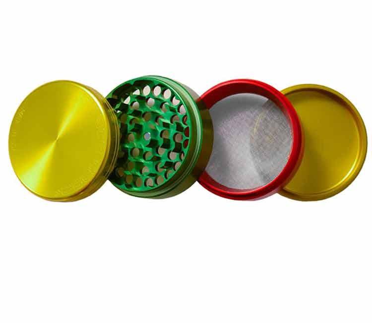 Space Case Grinder 4 Piece Medium - Rasta