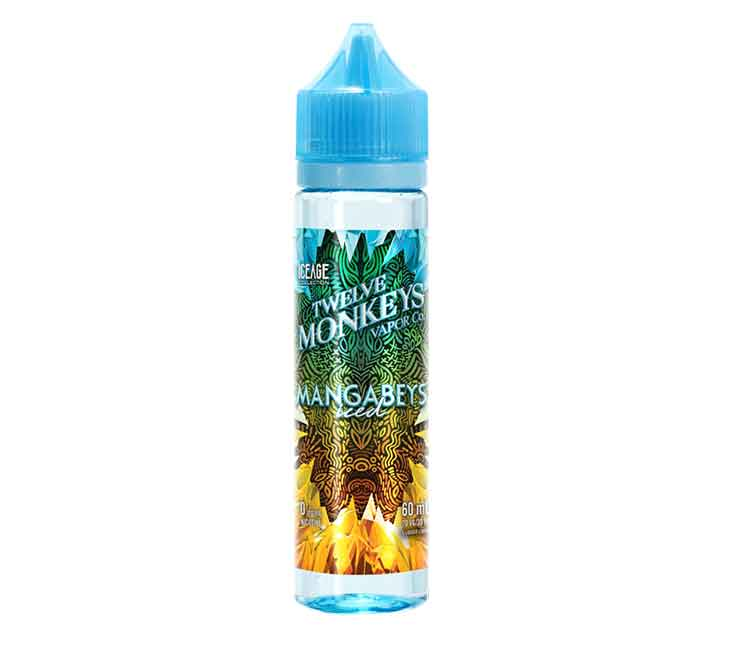 Mangabeys Iced By Twelve Monkeys Ice Age Free Base E-Liquid - 60