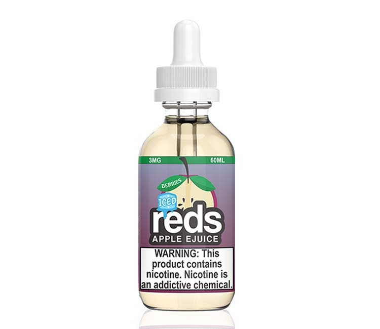 Reds Berries Apple Iced Free Base E-Liquid by 7Daze - 60ml