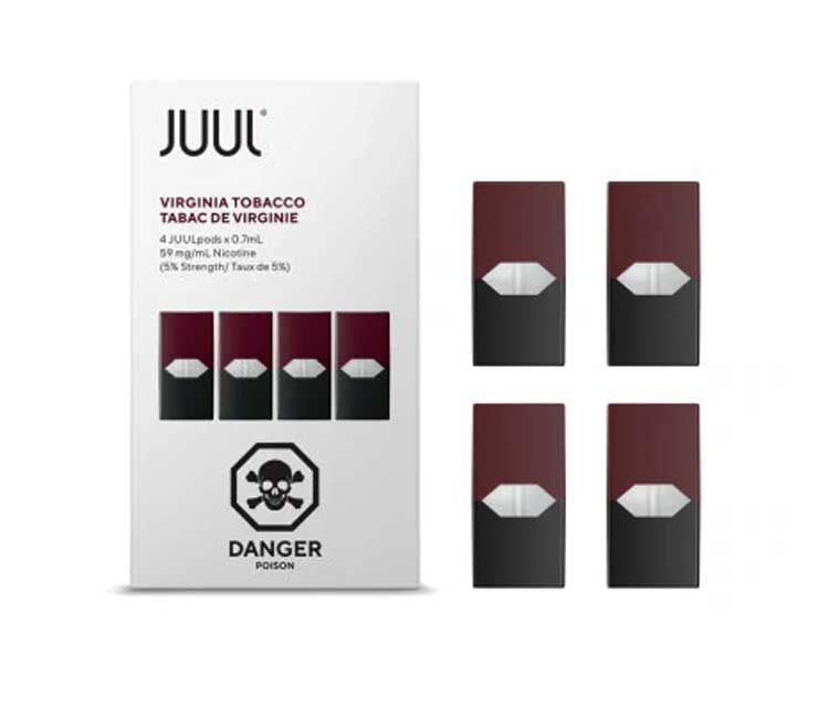 JUUL Pod Virginia Tobacco Flavor (Pack of 4 pods)