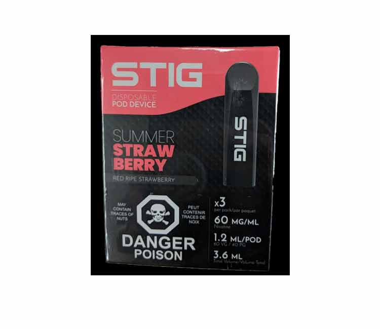 Summer Strawberry - STIG Disposable Vape Device by VGOD