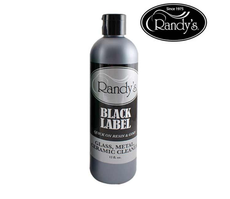 Randy's Black Label Glass, Metal, Ceramic Cleaner, 12 oz