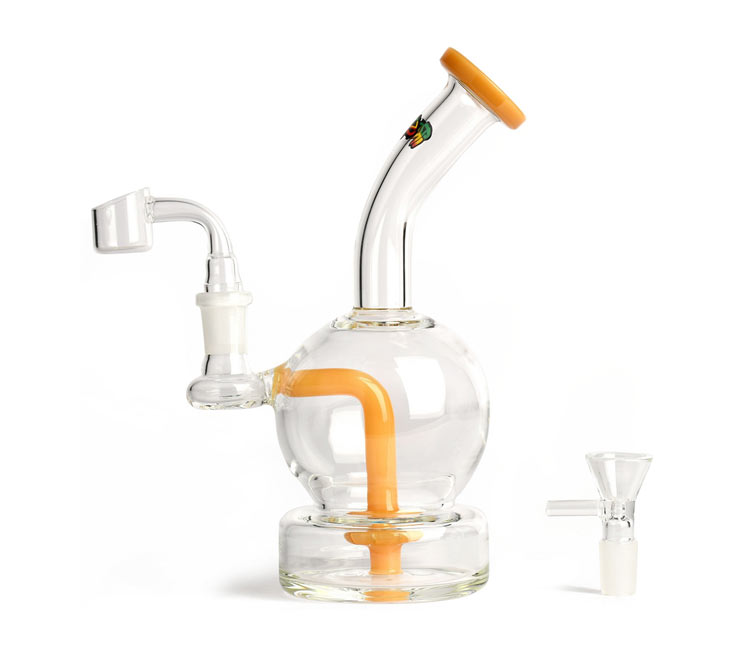 iRie 8 inches Concentrate Rig with 2 Hole Direct Perc & Pull-Out