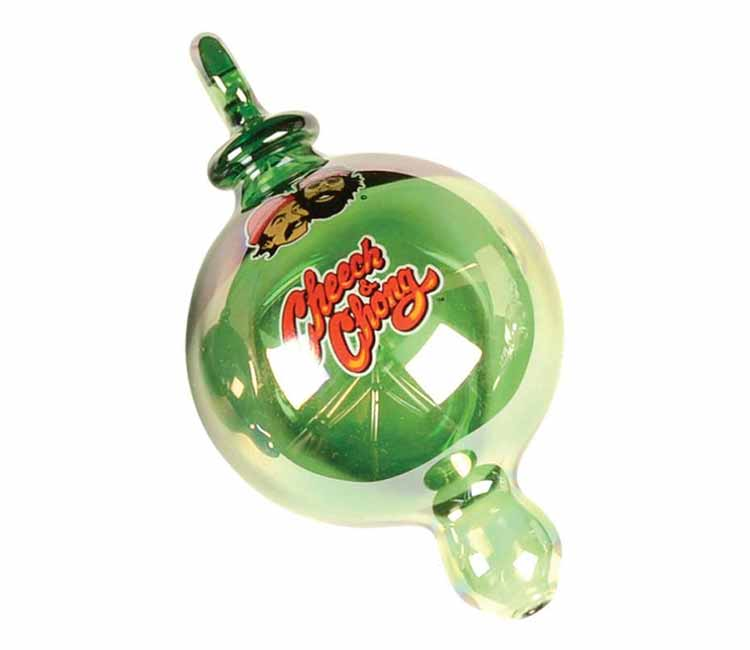Cheech & Chong Glass Holiday Bulb Ornament Hand Pipe