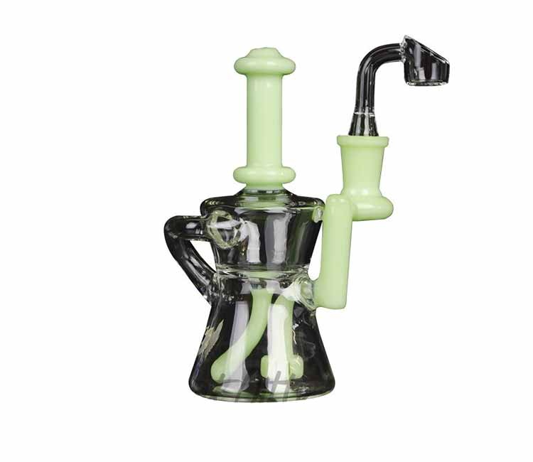 """Red Eye Glass 6.5"""" Knight Concentrate Recycler"""
