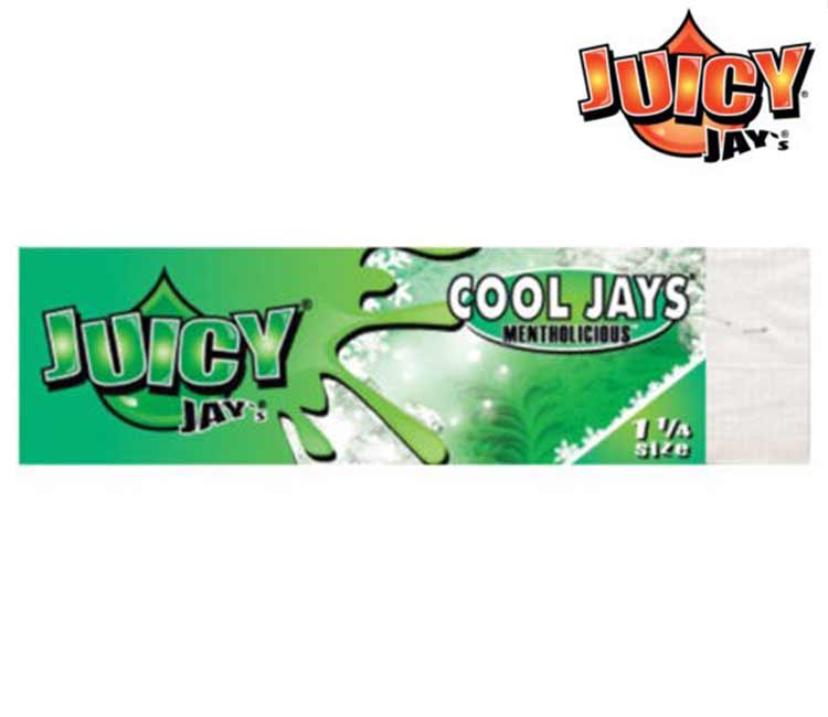 Juicy Jay's Cool Jays 1 ¼ (Mentholicious) Rolling Paper