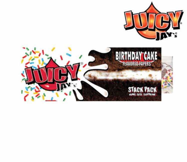 Juicy Jay's Birthday Cake Stack Pack King Size Rolling Papers