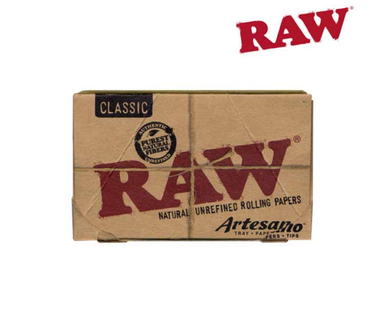 Raw Classic Artesano 1¼ With Tray, Papers and Tips