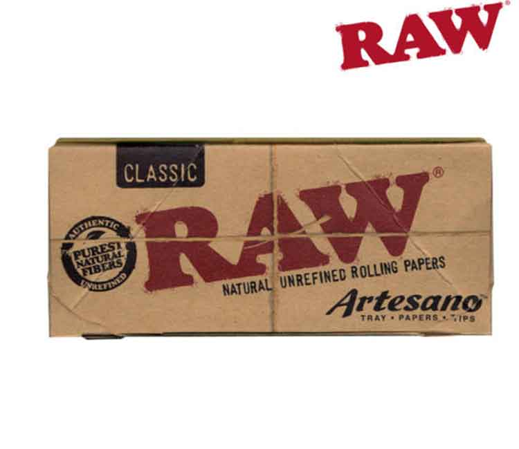 Raw Classic Artesano King Size With Tray, Papers, and Tips