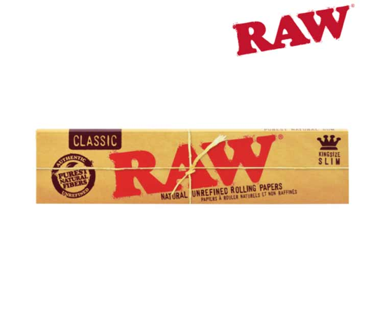 Raw Classic King size Slim - Natural Unrefined Rolling Papers