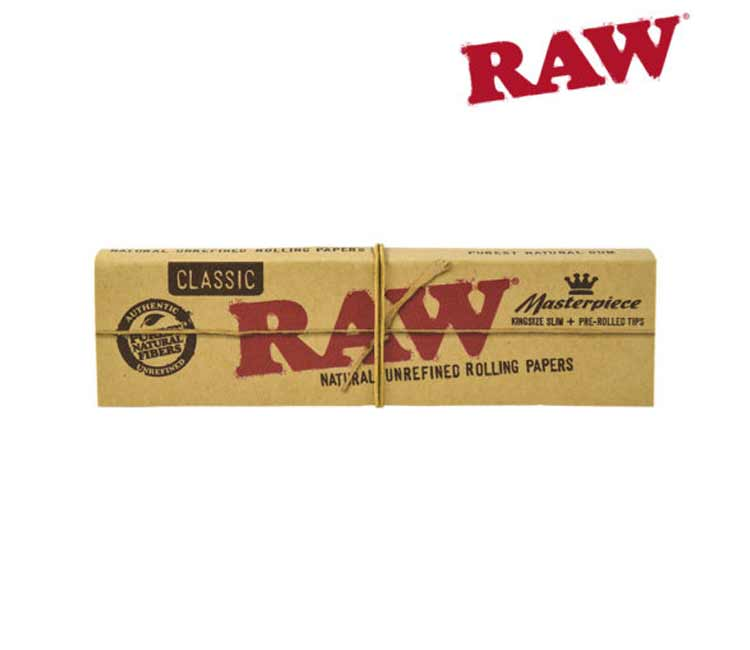 Raw Masterpiece King Size Slim Papers With Pre-Rolled Tips