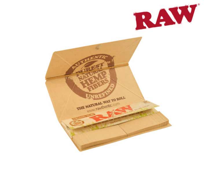 Raw Organic Artesano King Size Slim Rolling Papers With Trays and Tips