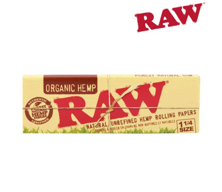 Raw Organic Hemp 1¼ - Natural Unrefined Rolling Papers