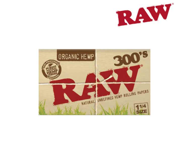 RawOrganic Hemp 1¼ 300'S - Natural Unrefined Rolling Papers