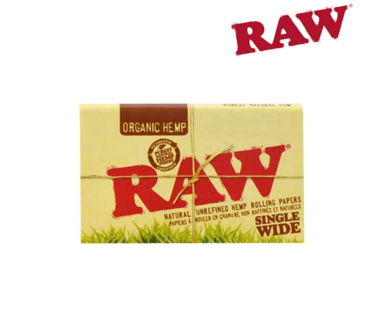 Raw Organic Hemp Single Wide Double Window - Natural Unrefined Rolling Papers