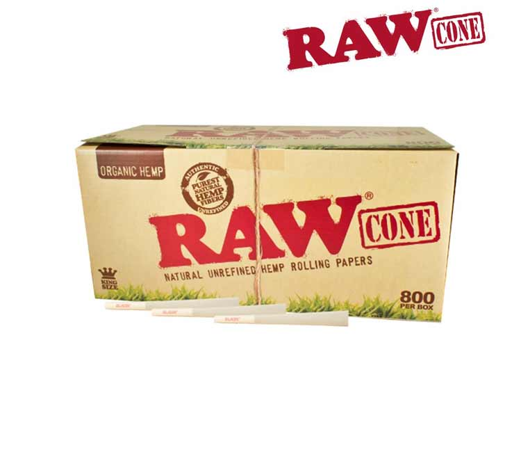 Raw Organic Pre-Rolled Cone King Size – Bulk Pack of 800