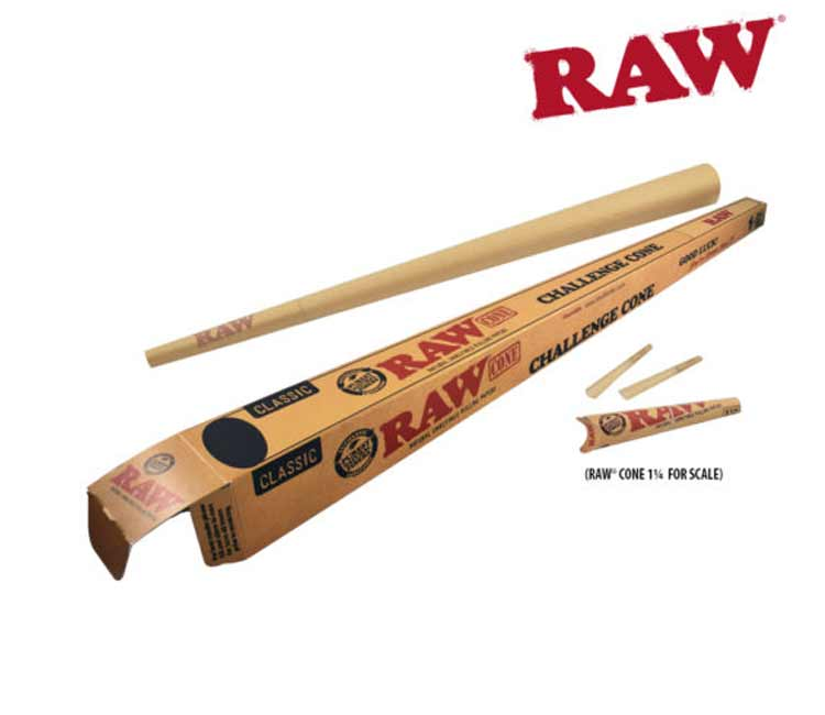 Raw Classic Pre-Rolled Challenge Cone 24 Inch Long