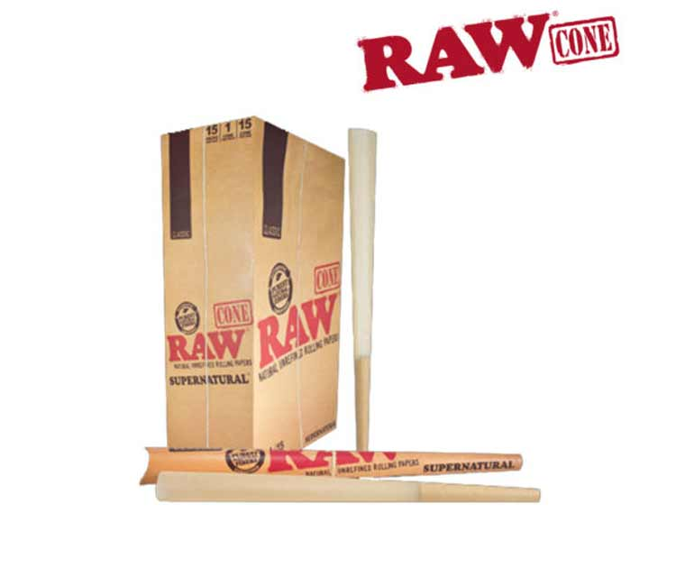 Raw Classic Pre-Rolled Cone – Supernatural 12 Inch