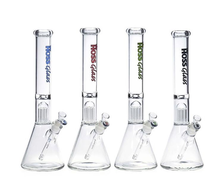 Hoss Glass Beaker with 8 Arm Tree Perc. (18 inch)
