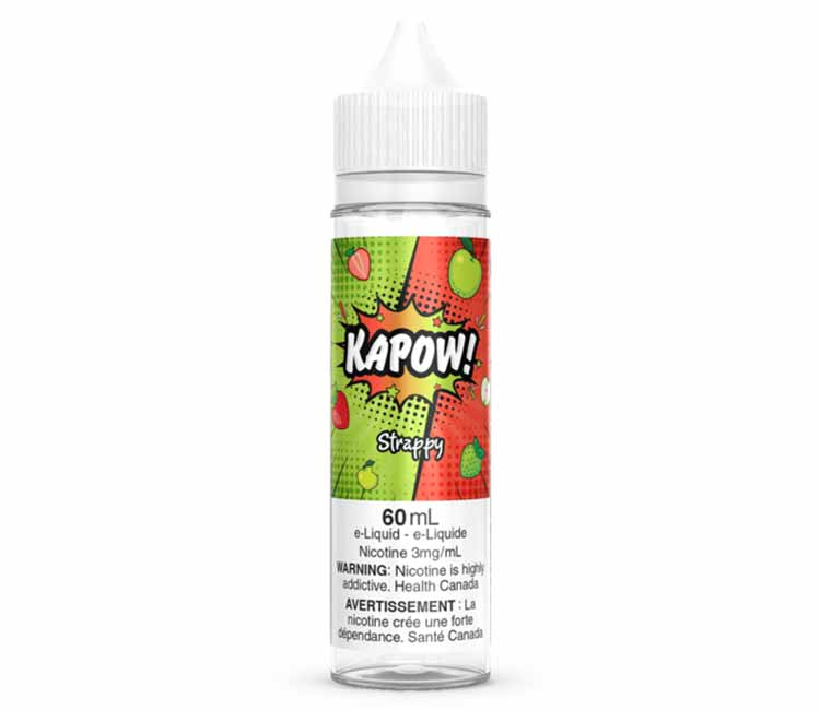 Strappy by KAPOW Free Base E Liquid - 60 ml