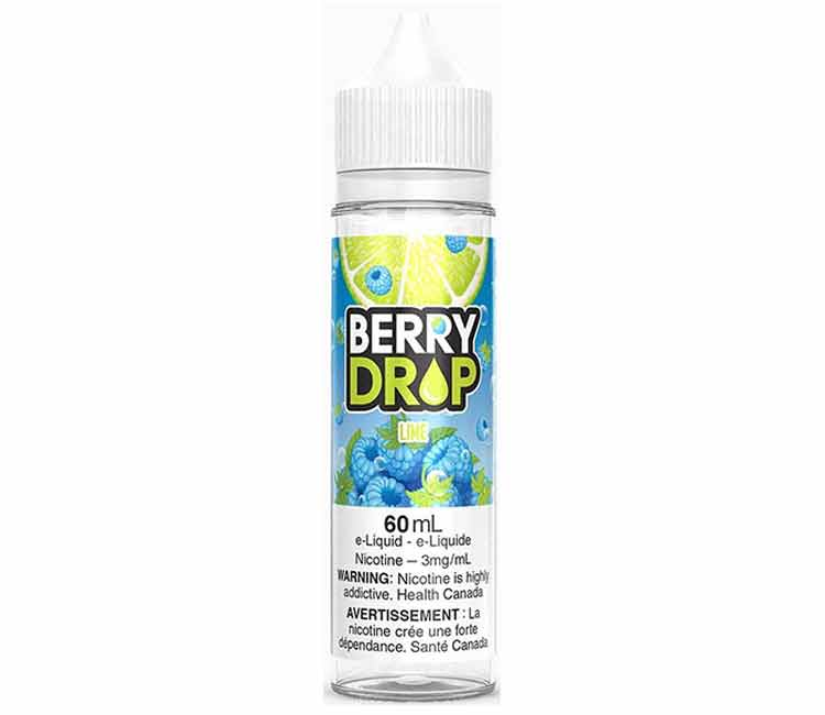 Lime by Berry Drop Free Base E-Liquid - 60ml
