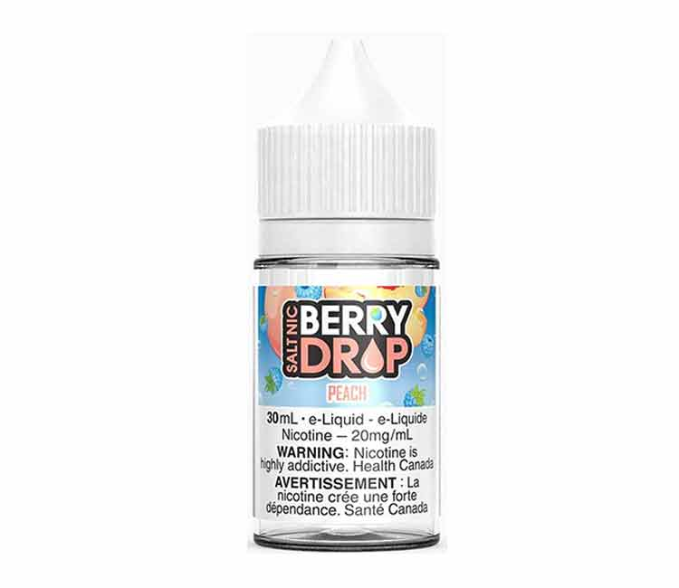 Peach by Berry Drop Nic Salt E-Liquid - 30ml