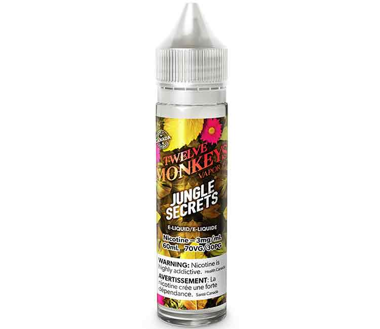 Jungle Secrets by Twelve Monkeys Free Base E-Liquid - 60ml
