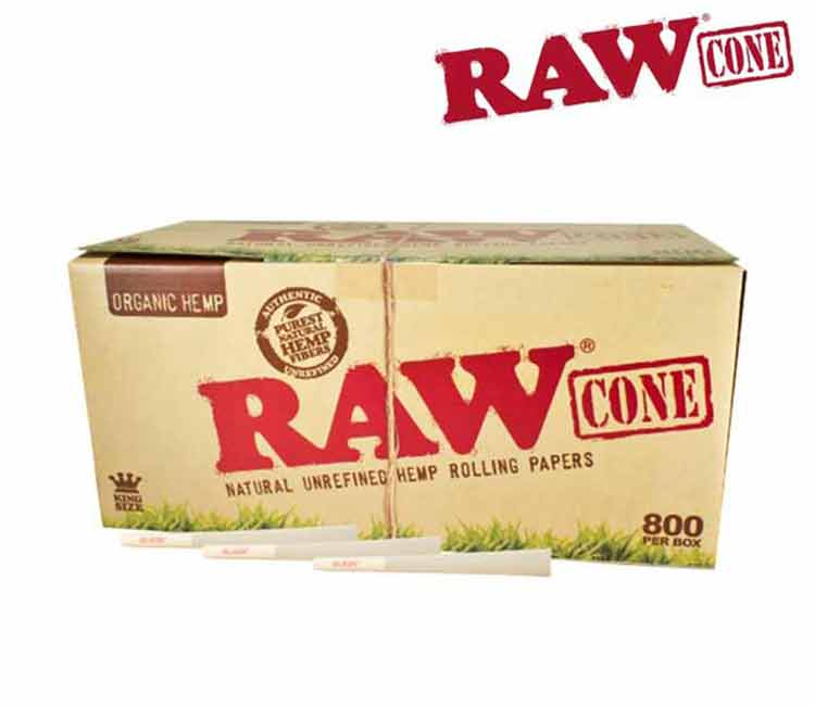 Raw Organic Pre-Rolled Cone King Size – 800/Pack