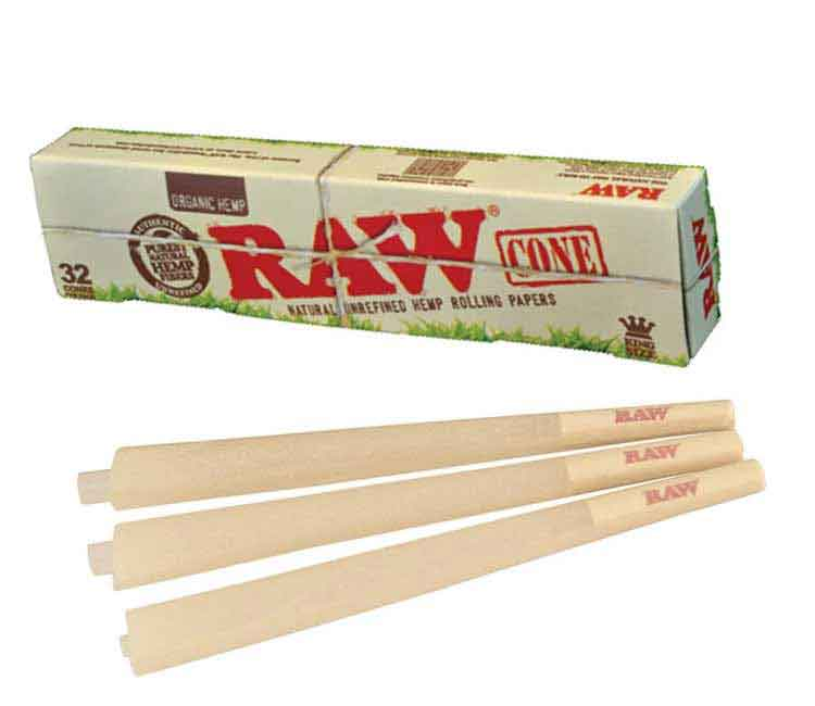 Raw Organic Pre-Rolled Cone Ks – 32/Pack