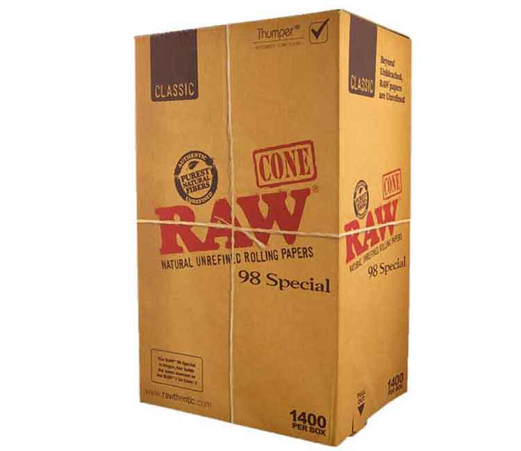 Raw Pre-Rolled Classic Cone 98 Special – 1400/Box