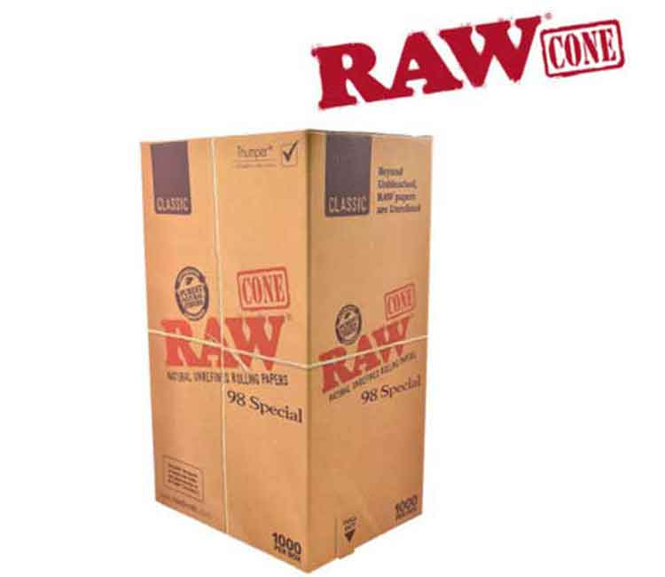 Raw Pre-Rolled Classic Cone 98 Special – 1000/Box