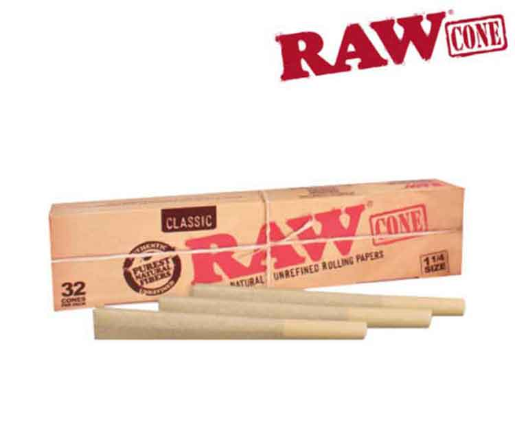 Raw Pre-Rolled Cone 1¼ – 32/Pack